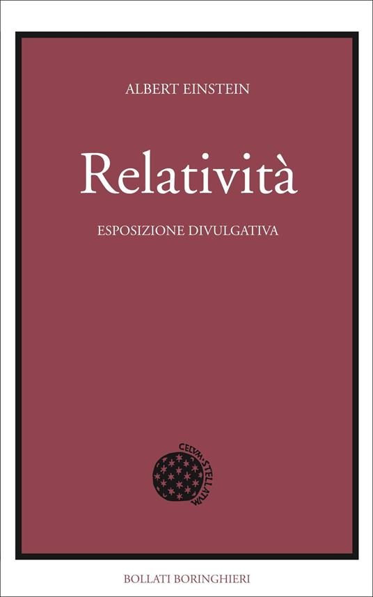 Relatività. Esposizione divulgativa - Albert Einstein - copertina
