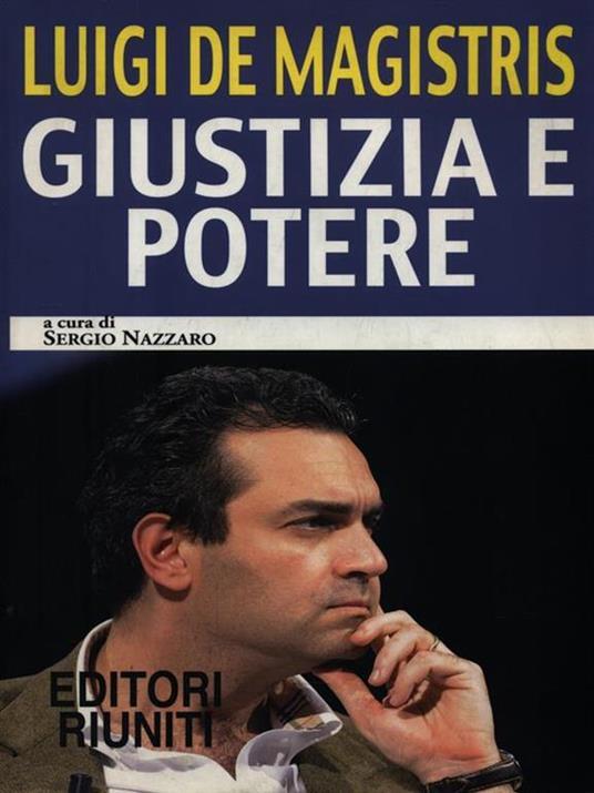 Giustizia e potere - Luigi De Magistris - copertina
