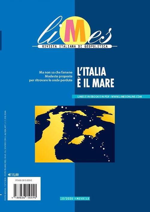 Limes. Rivista italiana di geopolitica (2020). Vol. 10: Italia è il mare, L'. - copertina