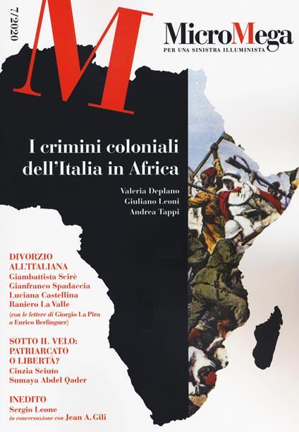 Micromega (2020). Vol. 7: crimini coloniali dell'Italia in Africa, I. - copertina