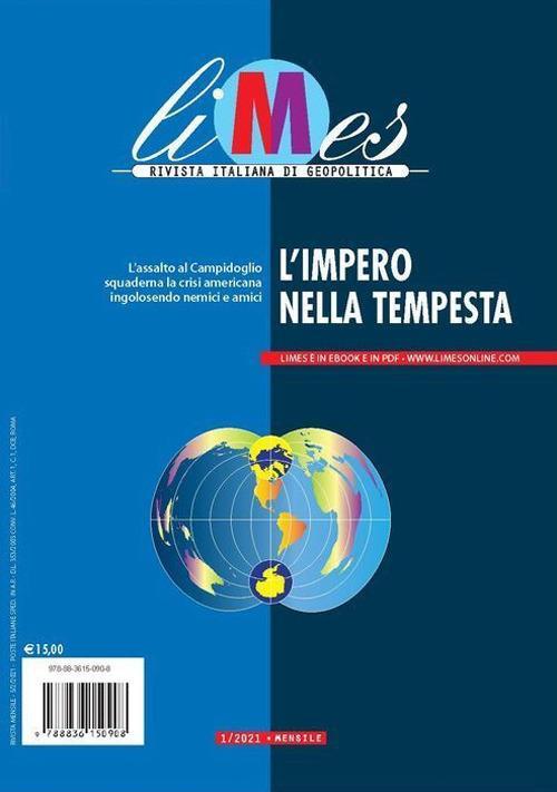 Limes. Rivista italiana di geopolitica (2021). Vol. 1: impero nella tempesta, L'. - copertina