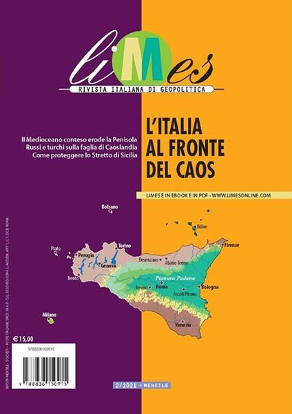 Limes. Rivista italiana di geopolitica (2021). Vol. 2: Italia al fronte del caos, L'. - copertina
