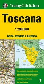 Toscana 1:200.000. Carta stradale e turistica