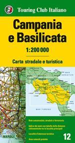 Campania e Basilicata 1:200.000. Carta stradale e turistica. Ediz. multilingue