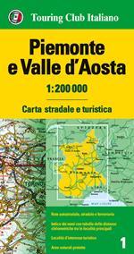 Piemonte e Valle d'Aosta 1:200.000. Carta stradale e turistica