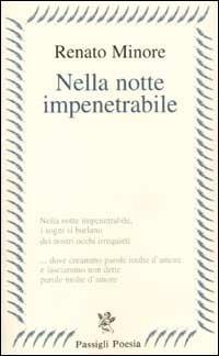 Nella notte impenetrabile - Renato Minore - copertina