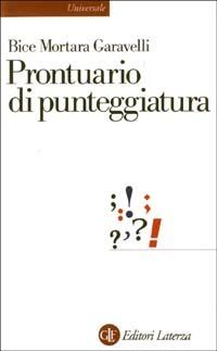 Prontuario di punteggiatura - Bice Mortara Garavelli - copertina