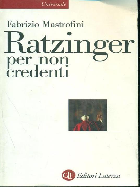 Ratzinger per non credenti - Fabrizio Mastrofini - copertina