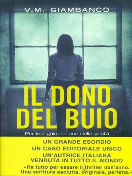 Il dono del buio - V. M. Giambanco - copertina