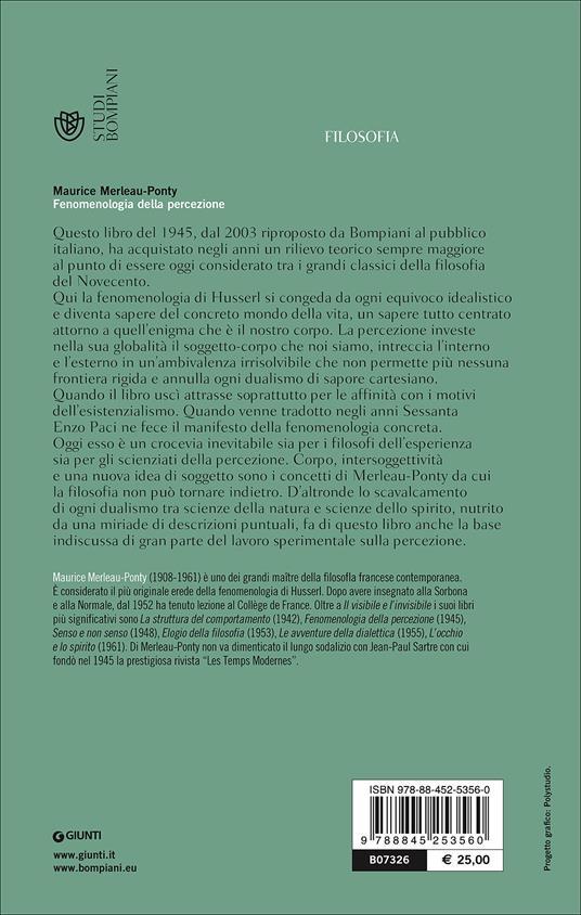 Fenomenologia della percezione - Maurice Merleau-Ponty - 2
