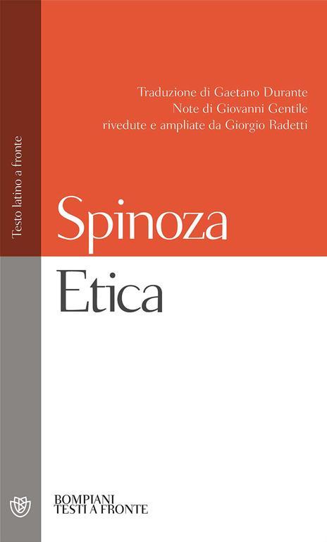 Etica. Testo latino a fronte - Baruch Spinoza - copertina