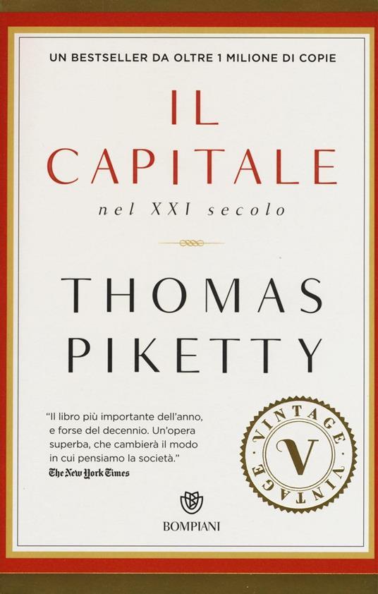 Il capitale nel XXI secolo - Thomas Piketty - copertina