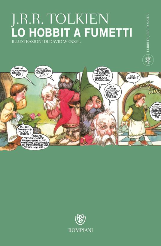 Lo Hobbit a fumetti o La riconquista del tesoro - John R. R. Tolkien - copertina