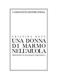 Una donna di marmo nell'aiuola - Cristina Bove - copertina