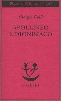 Apollineo e dionisiaco - Giorgio Colli - copertina