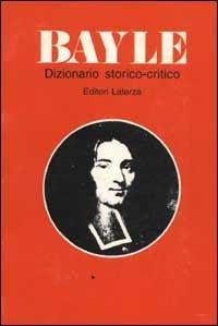 Dizionario storico-critico - Pierre Bayle - copertina