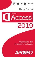 Access 2019. Organizzare dati in tabelle e database