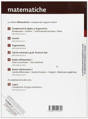 Matematiche. Tomo F: Analisi infinitesimali-Calcolo differenziale-Studio di funzioni. Per le Scuole superiori -  Maurizio Campitelli, Vincenzo Campodonico, Ferdinando Galdi - 2