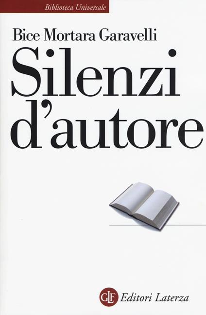 Silenzi d'autore - Bice Mortara Garavelli - copertina