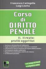 Corso di diritto penale. Vol. 2: Il reato: profili oggettivi.