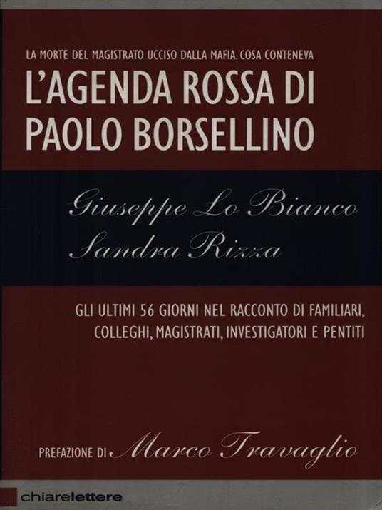 L' agenda rossa di Paolo Borsellino - Sandra Rizza,Giuseppe Lo Bianco - 2