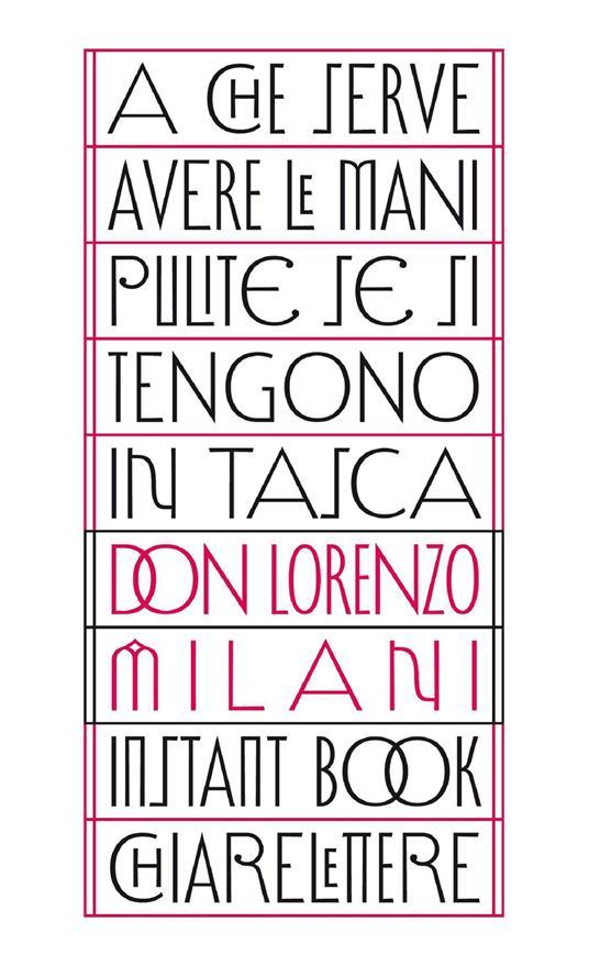 A che serve avere le mani pulite se si tengono in tasca - Lorenzo Milani - copertina