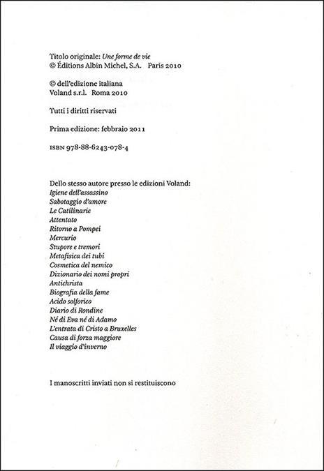 Una forma di vita - Amélie Nothomb - 3