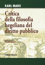 Critica della filosofia hegeliana del diritto pubblico