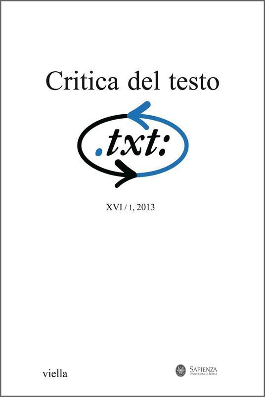Critica del testo. Vol. 16/1 - AA. VV. - ebook