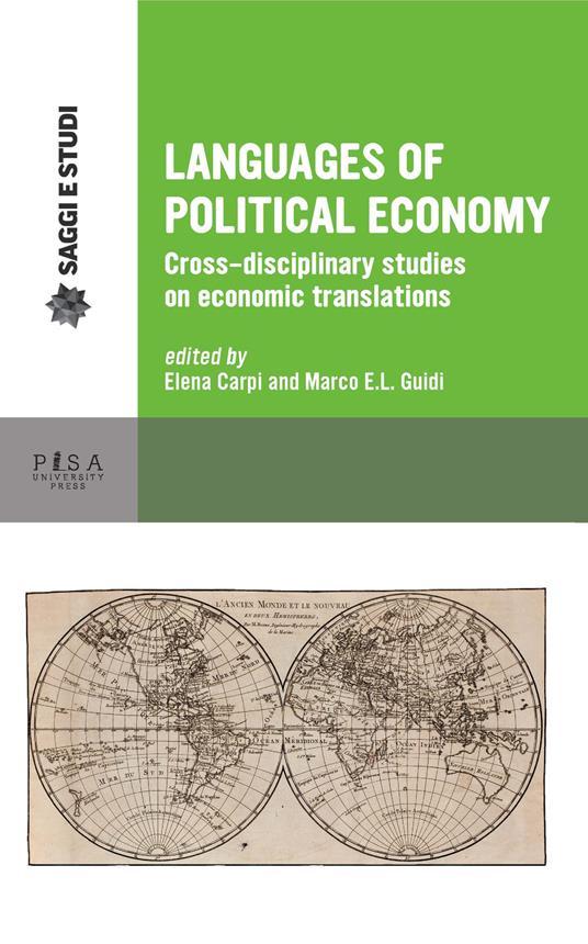 Languages of political economy. Cross-disciplinary studies on economic translations - copertina