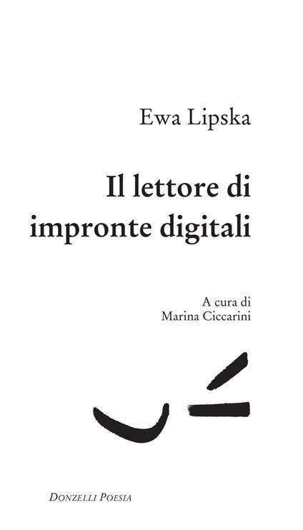 Il lettore di impronte digitali - Marina Ciccarini,Ewa Lipska - ebook