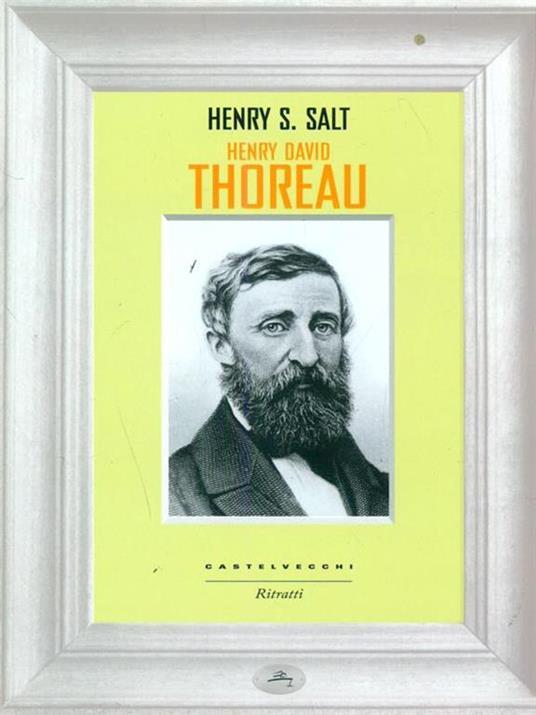 Henry David Thoreau - Henry S. Salt - copertina