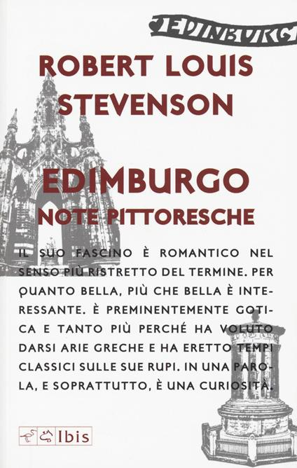 Edimburgo. Note pittoresche - Robert Louis Stevenson - copertina