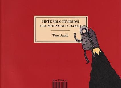 Siete solo invidiosi del mio zaino a razzo - Tom Gauld - copertina