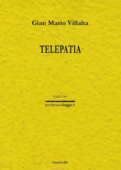 Telepatia - G. Mario Villalta - copertina