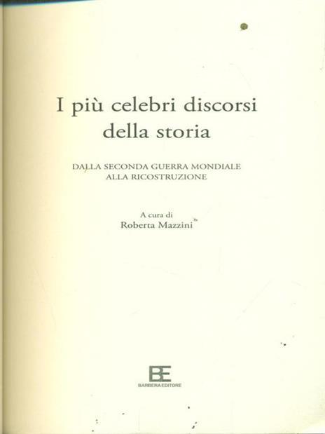 I più celebri discorsi della storia. Vol. 2: Dalla seconda guerra mondiale alla ricostruzione. - copertina