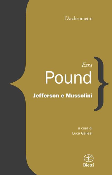 Jefferson e Mussolini - Ezra Pound - copertina