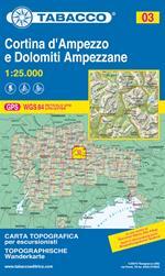 Cortina d'Ampezzo. Dolomiti ampezzane 1:25.000