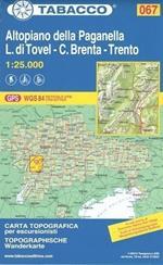 Altopiano della Paganella. C. Brenta. L. di Tovel 1:25.000. Ediz. multilingue