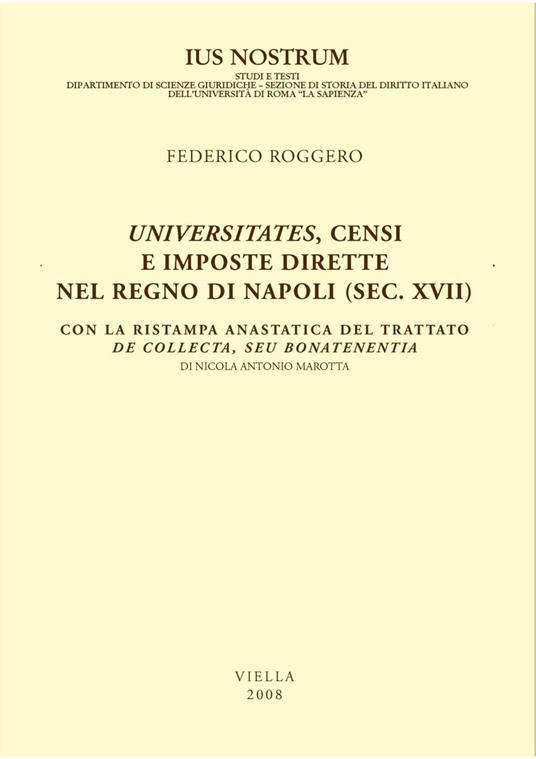 Universitates, censi e imposte dirette nel Regno di Napoli (sec. XVII) - Federico Roggero - ebook