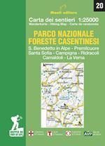 Parco nazionale delle foreste casentinesi. Carta dei sentieri 1:25.000. Ediz. italiana, inglese, francese e tedesca