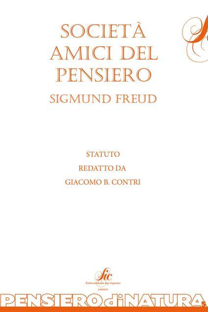 Società amici del pensiero - Giacomo B. Contri - copertina