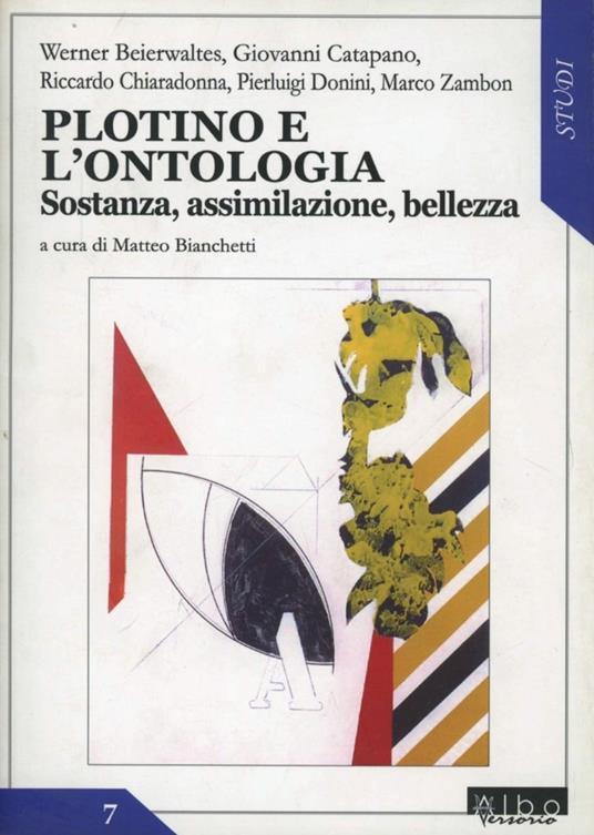 Plotino e l'ontologia. Sostanza, assimilazione, bellezza - copertina