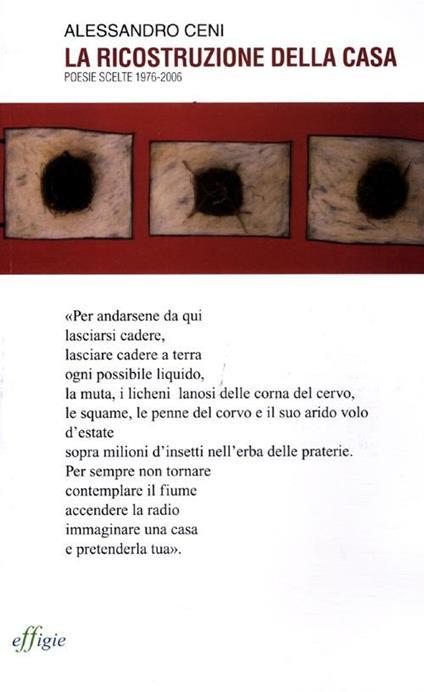 La ricostruzione della casa. Poesie scelte 1976-2006 - Alessandro Ceni - copertina