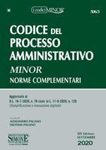 Codice del processo amministrativo. Norme complementari