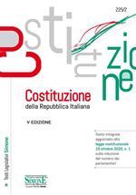 Costituzione della Repubblica Italiana. Testo integrale aggiornato alla legge costituzionale 19 ottobre 2020, n. 1 sulla riduzione del numero dei parlamentari. Ediz. minor