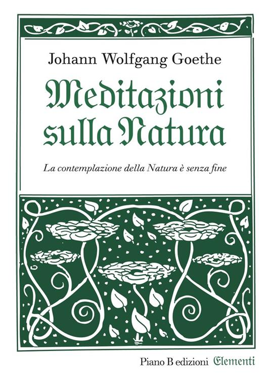 Meditazioni sulla natura - Johann Wolfgang Goethe - copertina