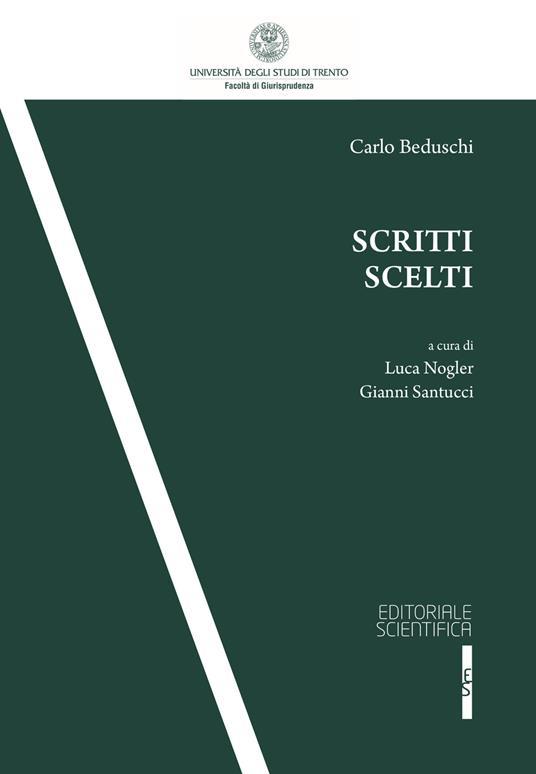 Scritti scelti - Carlo Beduschi - copertina