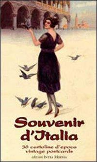 Souvenir d'Italia. 36 cartoline d'epoca vintage postcards. Ediz. illustrata - copertina