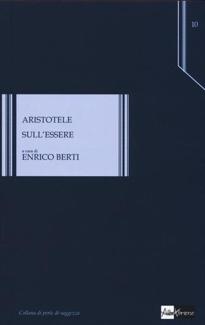 Sull'essere - Aristotele - copertina